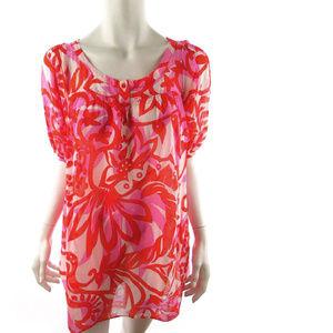 Zara Basics Red Floral Short dress